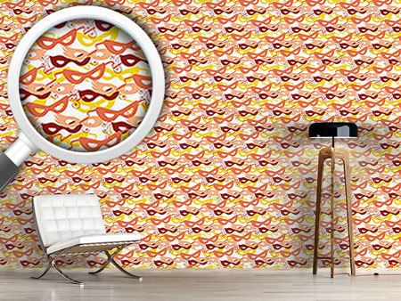 Pattern Wallpaper Carnival Masks