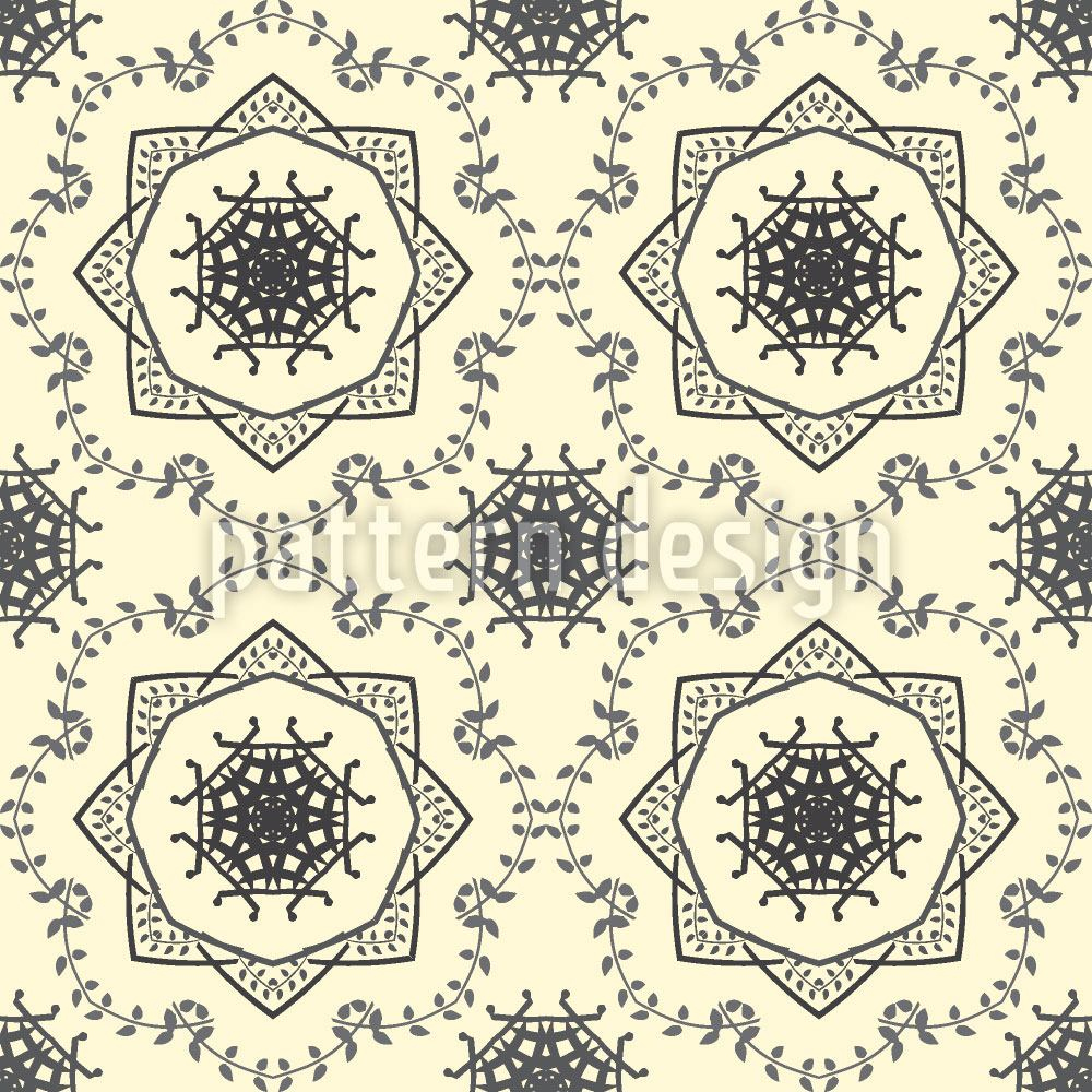 Pattern Wallpaper Circle Tendrillars
