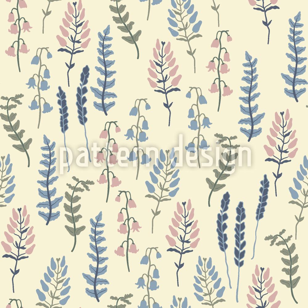 Pattern Wallpaper Ivory Garden