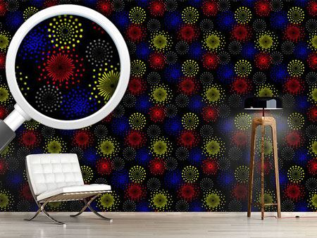 Pattern Wallpaper Spectacular Fireworks