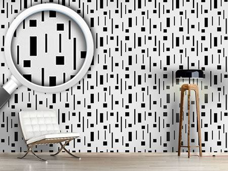 Pattern Wallpaper Retro In Black And Grey