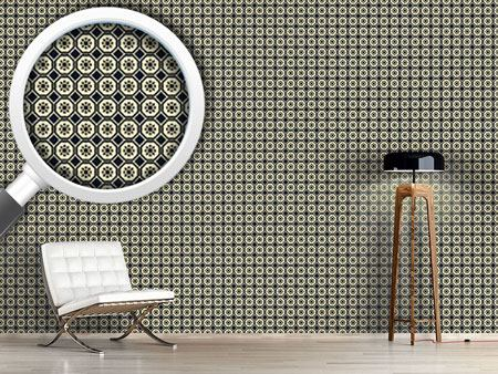 Pattern Wallpaper Chinese Flower Hexagon