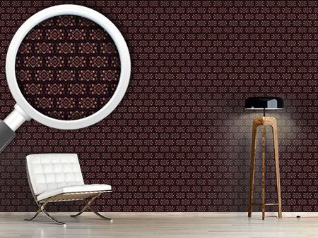 Pattern Wallpaper Chocolate Royal