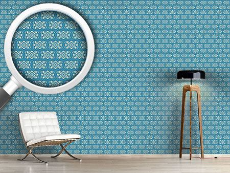 Pattern Wallpaper Tint Royal