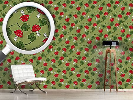 Pattern Wallpaper Lucky Charms In Green