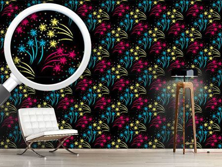 Pattern Wallpaper Fireworks