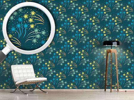 Pattern Wallpaper Falling Stars