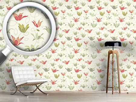 Pattern Wallpaper Magic Garden