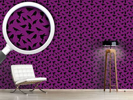 Pattern Wallpaper Swarm of Birds