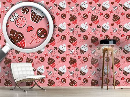 Pattern Wallpaper Sweet Nothing In Rose