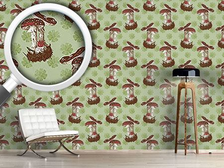Pattern Wallpaper The Lucky Mushroom