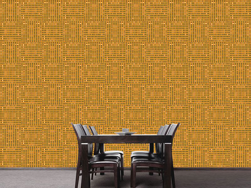 Designmuster Tapete Tilo Orange