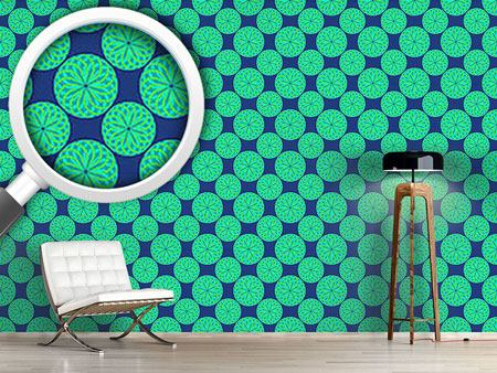 Pattern Wallpaper Small Green Lanterns
