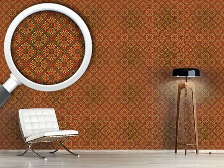 Pattern Wallpaper Renaissance Gold
