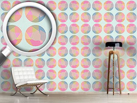 Pattern Wallpaper Circle Grid