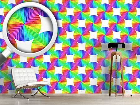 Pattern Wallpaper Compact Color Disks