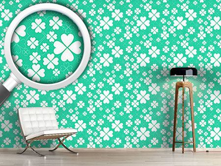 Pattern Wallpaper Lucky Clover