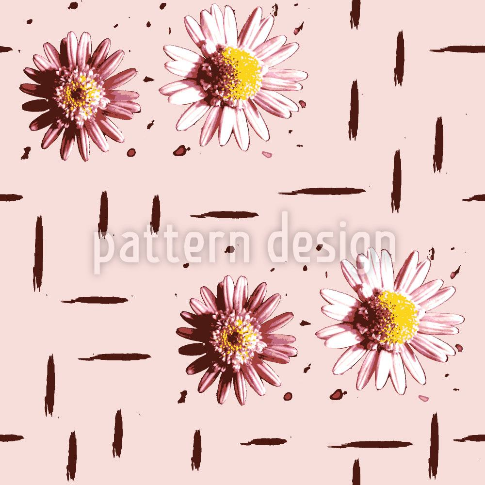 Pattern Wallpaper Counting Daisies