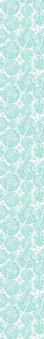 Papier peint design Filigree Winter Circles