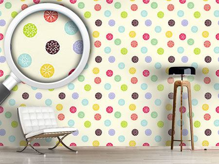 Pattern Wallpaper Blooming Dots