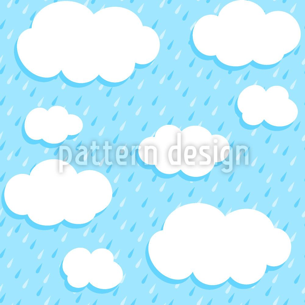 Pattern Wallpaper Clouds And Drops