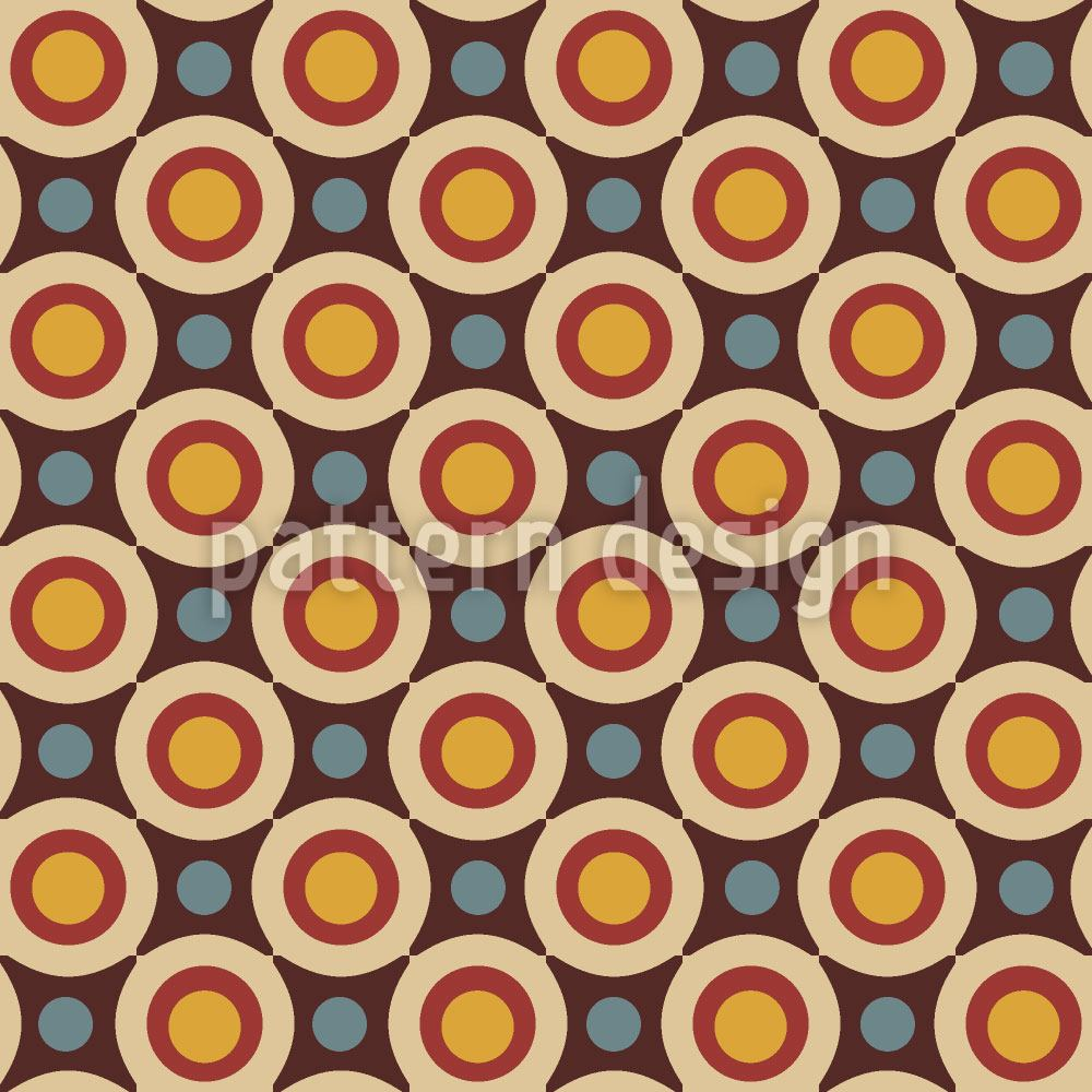 Pattern Wallpaper Retro Stars And Circles