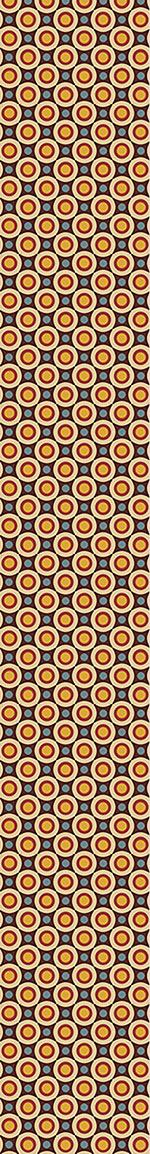 Papier peint design Retro Stars And Circles