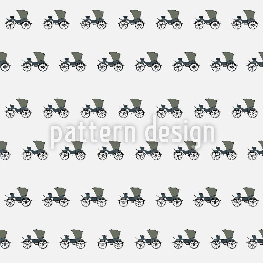 Pattern Wallpaper Luxury Carriages