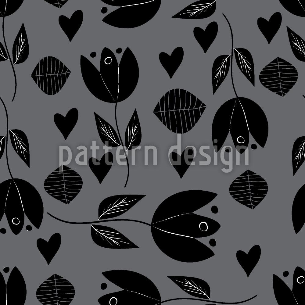 Papier peint design Tulip With Heart