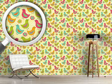 Pattern Wallpaper The Happy Chicken