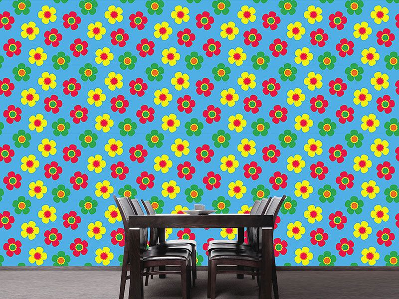Pattern Wallpaper Small Flowers Bring Back Summer