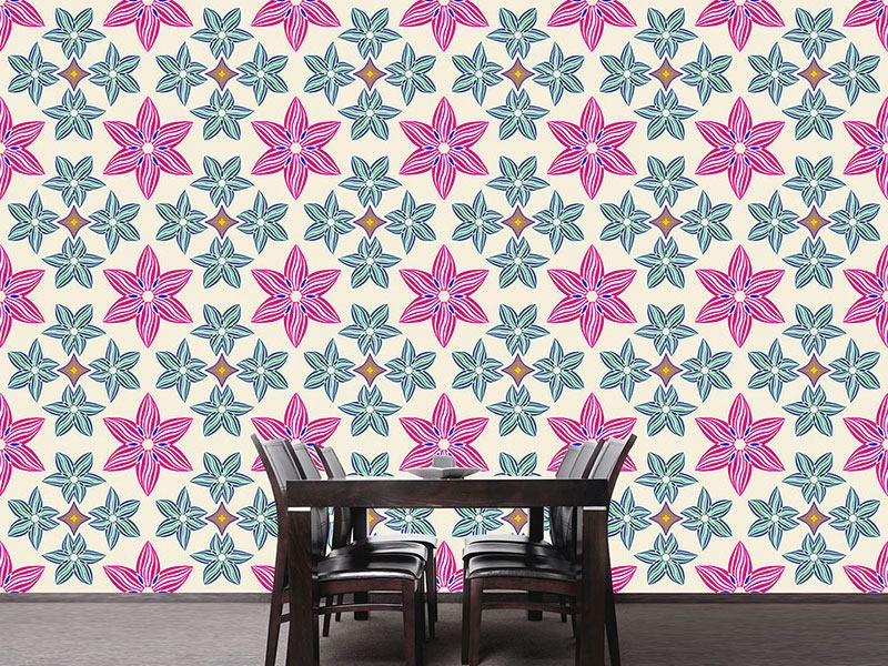 Pattern Wallpaper Symmetry And Flowers