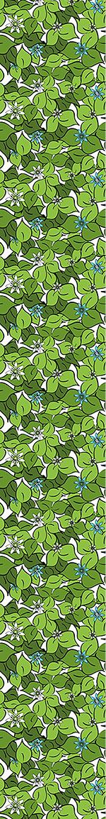 Papier peint design Florets On Foliage