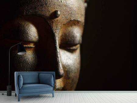 Photo Wallpaper Close up Buddha head
