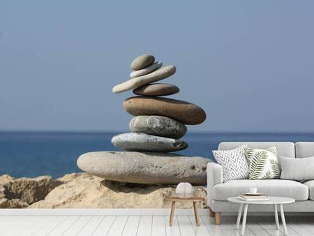 Photo Wallpaper Stone stack XXL
