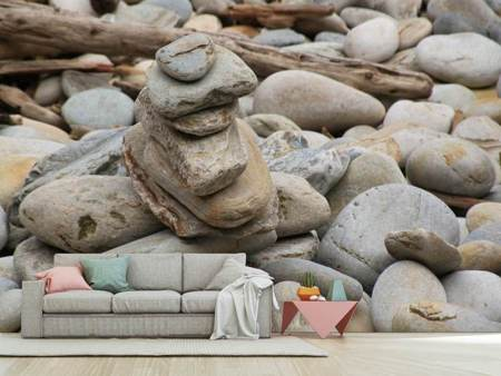 Photo Wallpaper Stone stack XL