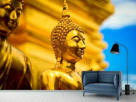 Photo Wallpaper The golden buddhas