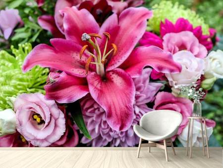 Photo Wallpaper Bouquet with lily