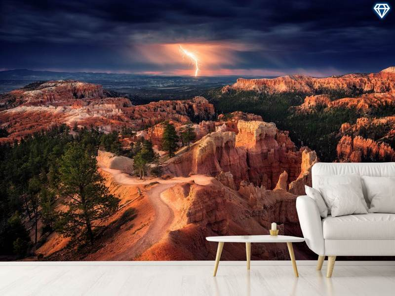 Fotomurale Lightning Over Bryce Canyon