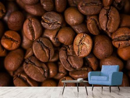 Photo Wallpaper Close Up Coffee Beans