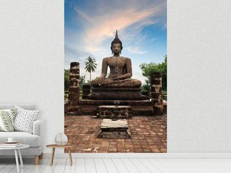 Photo Wallpaper Buddha Statue at Dusk