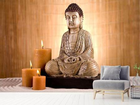 Photo Wallpaper Buddha In Meditation