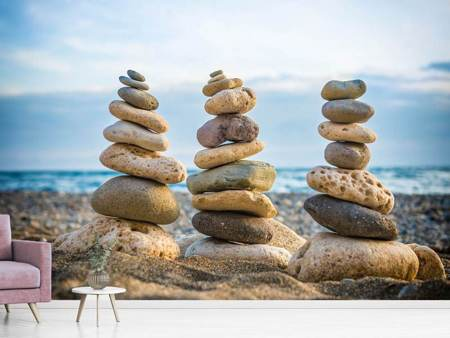 Photo Wallpaper Three Stone Stacks