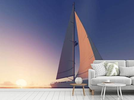 Photo Wallpaper The Sailboat